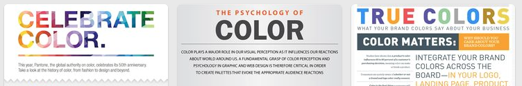 "My favorite top 5 ""Using Color"" Infographics"